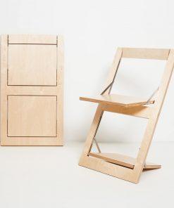 Bedruckbarer Design Klappstuhl Fläpps