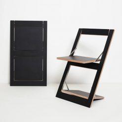 Design Klappstuhl Fläpps – schwarz