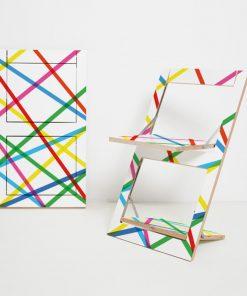 Design Klappstuhl Fläpps – Bunte Linien
