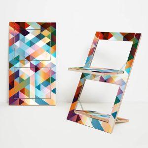 Design Klappstuhl Fläpps – Criss Cross Rot